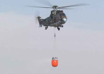 """Вертолет """"Кугар"""" се включва в гасенето на пожара в Рила"""
