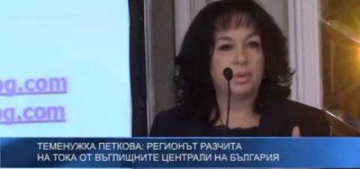 Теменужка Петкова: Регионът разчита на тока от въглищните централи на България