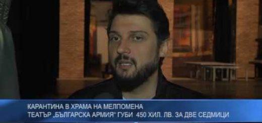 """Карантина в храма на Мелпомена – театър """"Българска армия"""" губи  450 хил. лв. за две седмици"""