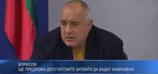 Борисов: Ще предложа депутатските заплати да бъдат замразени
