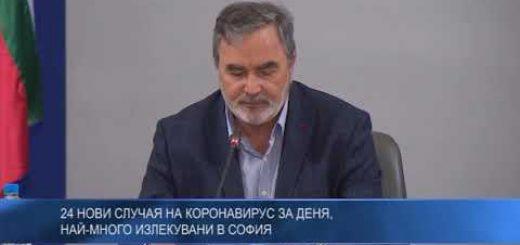 24 нови случая на коронавирус за деня, най-много излекувани в София