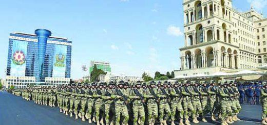 Военен парад по повод 100-годишнината на въоръжените сили на Азербайджан, 2018 г