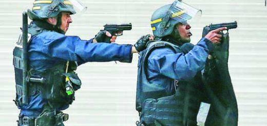 френски полицаи с SIG SP2022