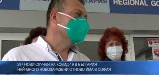 297 нови случая на КОВИД-19 в България – най-много новозаразени отново има в София