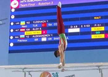 Дейвид Хъдълстоун се класира за финала на успоредка на Световната купа по спортна гимнастика в Осиек