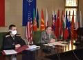 """Заключителна координираща конференция за компютърно подпомаганото тактико-специално учение """"Преслав 2021"""" се проведе в Съвместното командване на силите"""