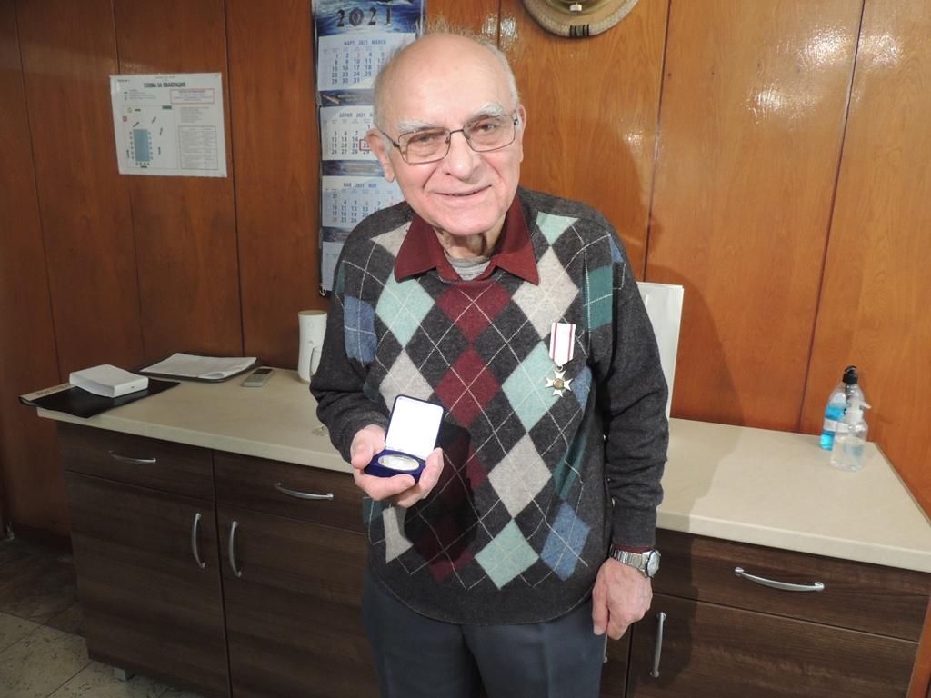 Флотски ветеран навърши 80 години