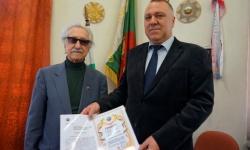 """Иво Антонов с престижното звание """"Почетен член"""" на Съюза на ветераните от войните на България"""