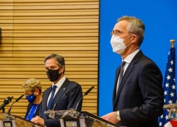 Joint press conference by NATO Secretary General Jens Stoltenberg, US Secretary of State Antony J. Blinken and US Secretary of Defense Lloyd J. Austin III