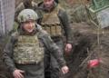 Володимир Зеленски отбеляза Деня на победата в село на границата с Русия