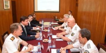 На посещение във Военноморските сили беше посланикът на Кралство Великобритания в Република България
