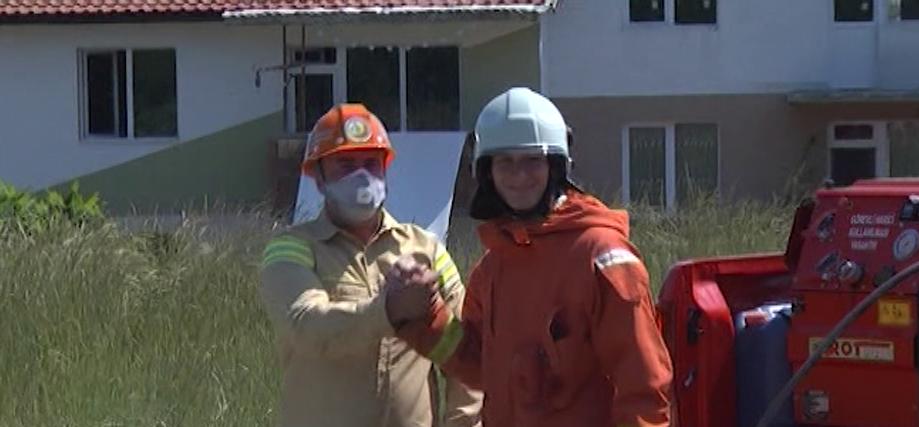 Учение за борба с горските пожари в Царево - български и турски власти в борба със стихията