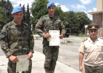 Редник Илия Вълчев и редник Мирослава Диновска са шампиони по военен многобой за 2021 г.