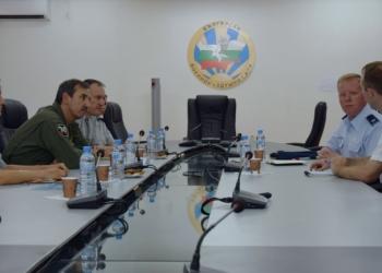 Посещение на новоназначеното аташе по отбраната на САЩ в командването на ВВС