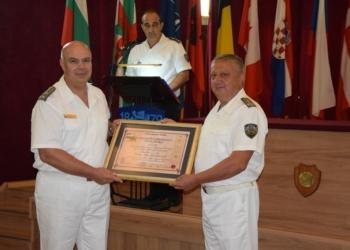 С тържествена церемония бе изпратен в запаса капитан I ранг Стоян Стоянов