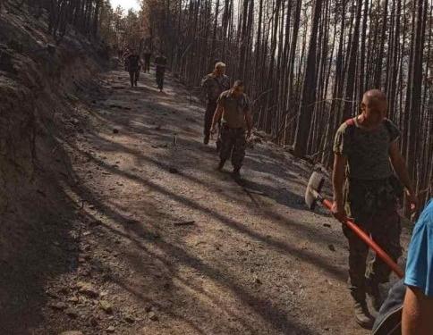 Военнослужещи и хеликоптер оказаха помощ за локализирането на пожара край Твърдица