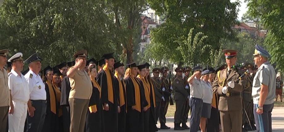 """Връчиха дипломите във Военната академия на випуск """"Георги Раковски"""" 2021 – I-ва смяна"""