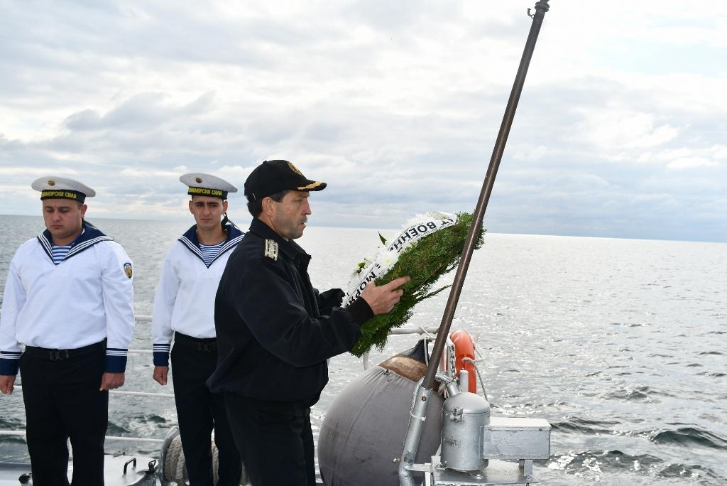 Сбогувахме се с капитан I ранг о.з. Ивелин Калоянов