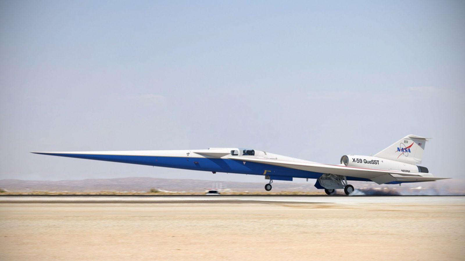 Lockheed Martin показа за първи път прототипа на свръхзвуковия самолет X-59