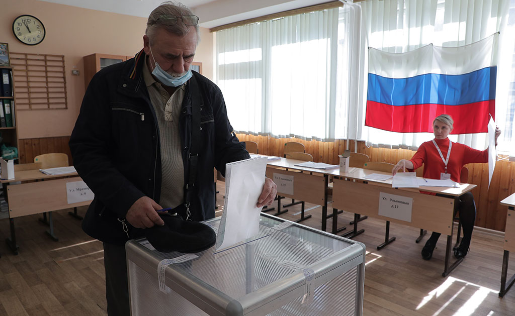 Приключи тридневното гласуване в Русия, управляващата партия води убедително