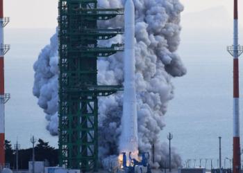 Южна Корея изстреля първата си космическа ракета, но мисията не успя